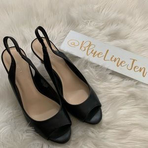 Nine West Known As Leather Slingback Heels NWOT